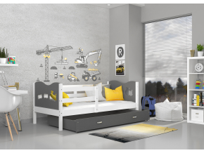 max p detská posteľ biela biela