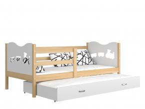 detska postel s pristelkou MAX P2 borovica biela