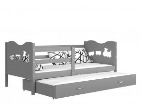 max p2 detská posteľ sivá zelená
