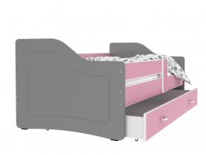 detska jednolozkova postel SWEETY siva ruzova