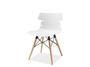 moderna biela jedalenska stolicka FERRO buk biela