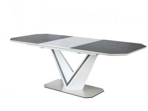 moderny rozkladaci jedalensky stol VALERIO CERAMIC biely