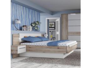 canbera manželská posteľ s nočnými stolíkmi
