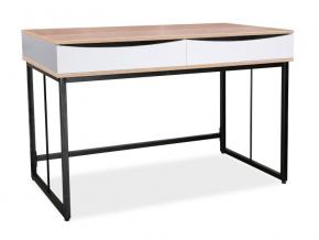 moderny pisaci stol B 170 cierno biely