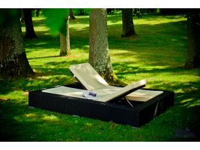 Záhradné ratanové lehátka Umile (1)