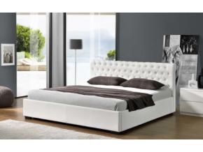 dorlen biela čalúená manželská posteľ
