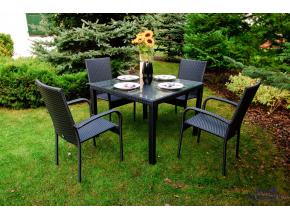 MS.010.001 Zestaw mebli stołowych ECCELLENTE czarne 1