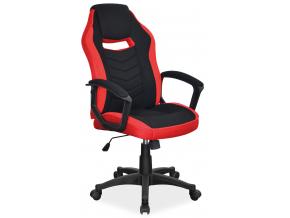 Kancelárske kreslo CAMARO  čierno červená