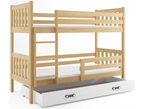 Poschodová posteľ Carino biela