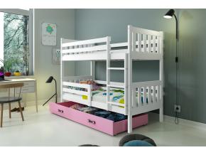 Poschodová posteľ Carino jelša