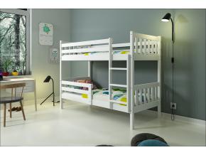 Poschodová posteľ Carino biela bez zásuvky