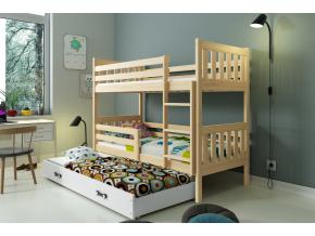 Poschodová posteľ Carino 3 borovica