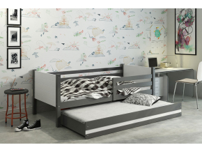 detská posteľ Clir s prístelkou grafit