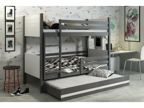 detská poschodová posteľ Clir s prístelkou