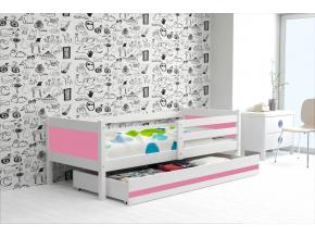 detská posteľ Rino biela ružová 3