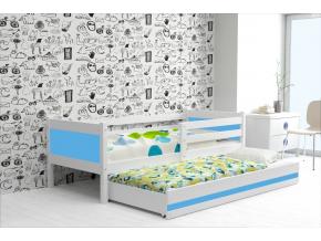 detská posteľ Rino biela modrá