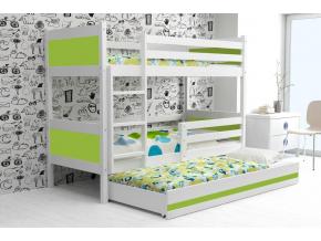 detská poschodová posteľ Rino zelená 1
