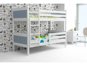 detská poschodová posteľ Rino grafit