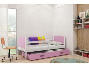 detská posteľ Tami grafit fialová