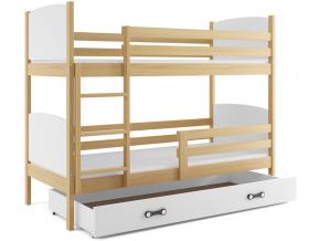 Detská poschodová posteľ Tami 3 biela fialová