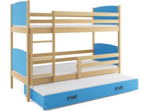 Detská poschodová posteľ Tami 4 biela fialová