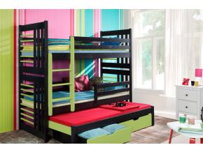 detská poschodová posteľ Roland III c