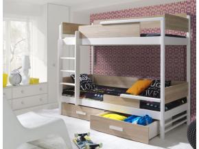 Detská poschodová posteľ Tres