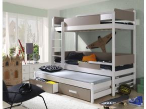 Detská poschodová posteľ Quatro