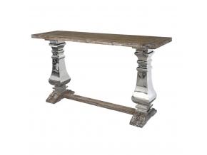 luxusny dreveno ocelovy stolik GLAMOUR GL1527