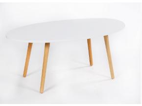bazzy konferenčný stolík typ 1 biela