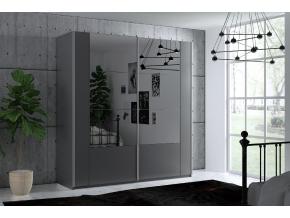 moderna satnikova skrina so zrkadlom SANTIAGO 200 siva