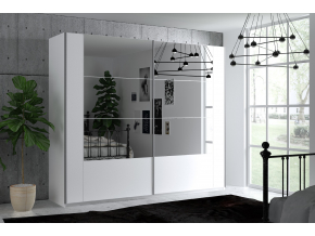 moderna biela satnikova skrina so zrkadlom SANTIAGO 250 biela