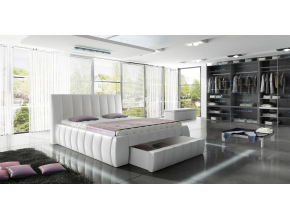 moderna biela manzelska postel ROMA