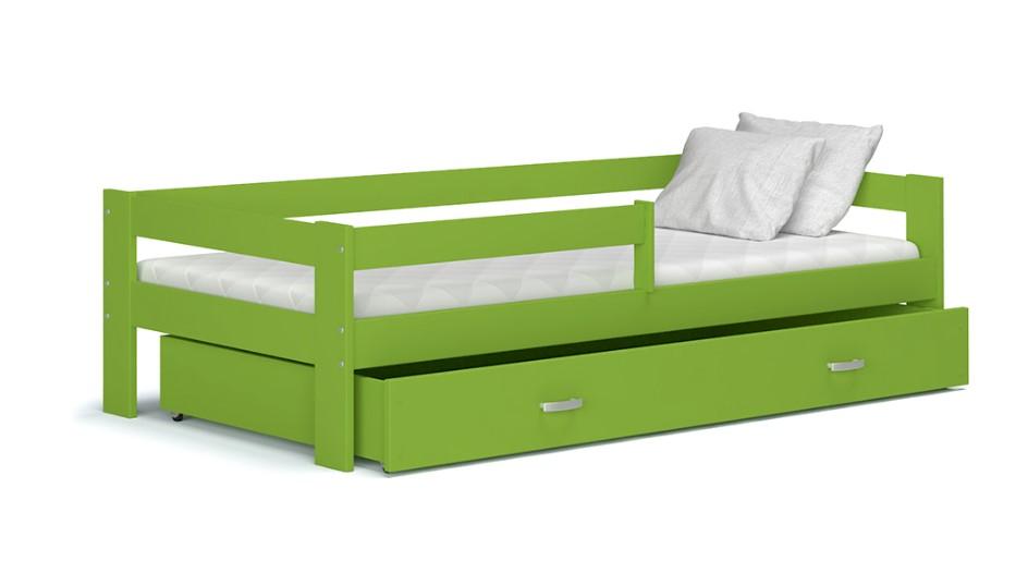 ArtAJ Detská posteľ HUGO s matracom | 180 x 80 Farba: Zelená