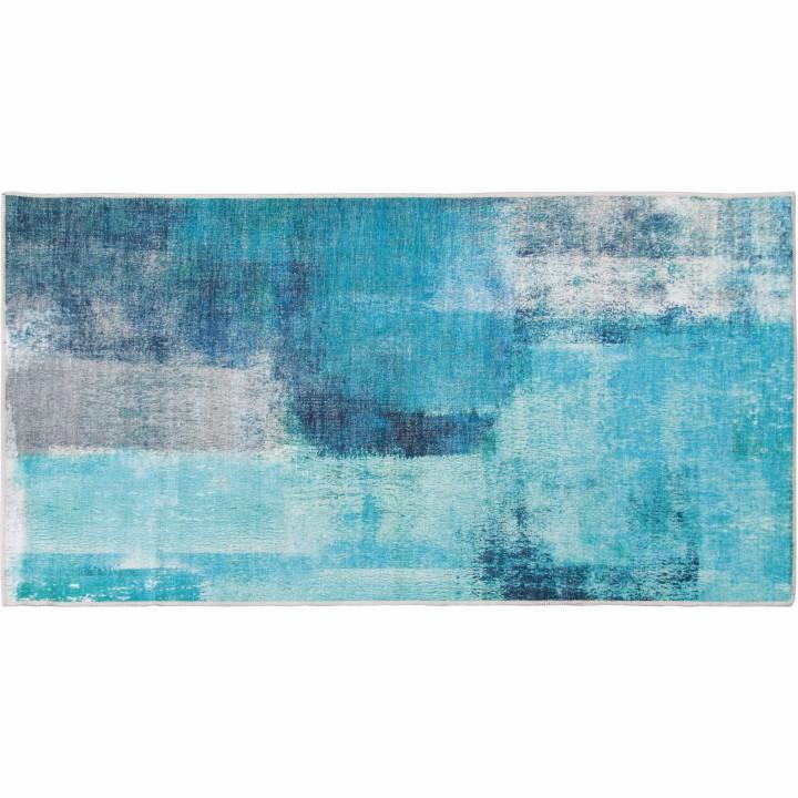 Tempo Kondela Koberec, modrá/sivá, 80x150, ESMARINA TYP 2
