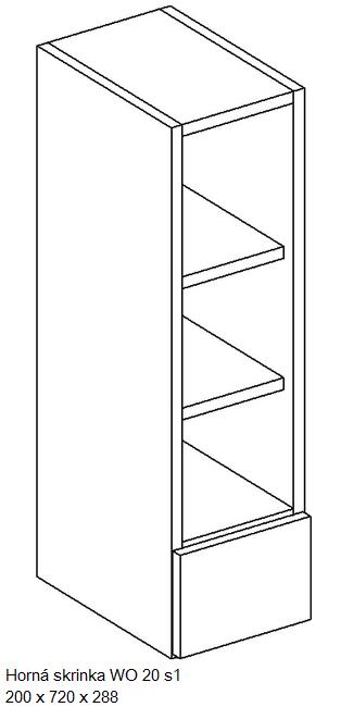 Artstolk Kuchynská linka ALINA / biela - VÝPREDAJ Typ: Horná skrinka ALINA WO 20 s1