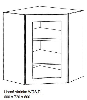 Artstolk Kuchynská linka ALINA / biela - VÝPREDAJ Typ: Horná skrinka ALINA WRS PL