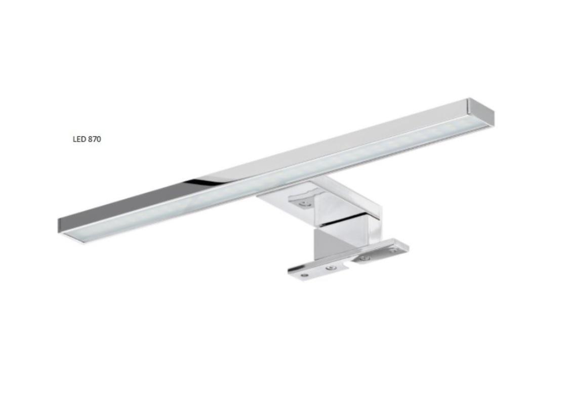 ArtCom Kúpeľňová zostava TWIST / BIELA Prevedenie: LED osvetlenie k zrkadlovej skrinke Twist / biela - Viento 870
