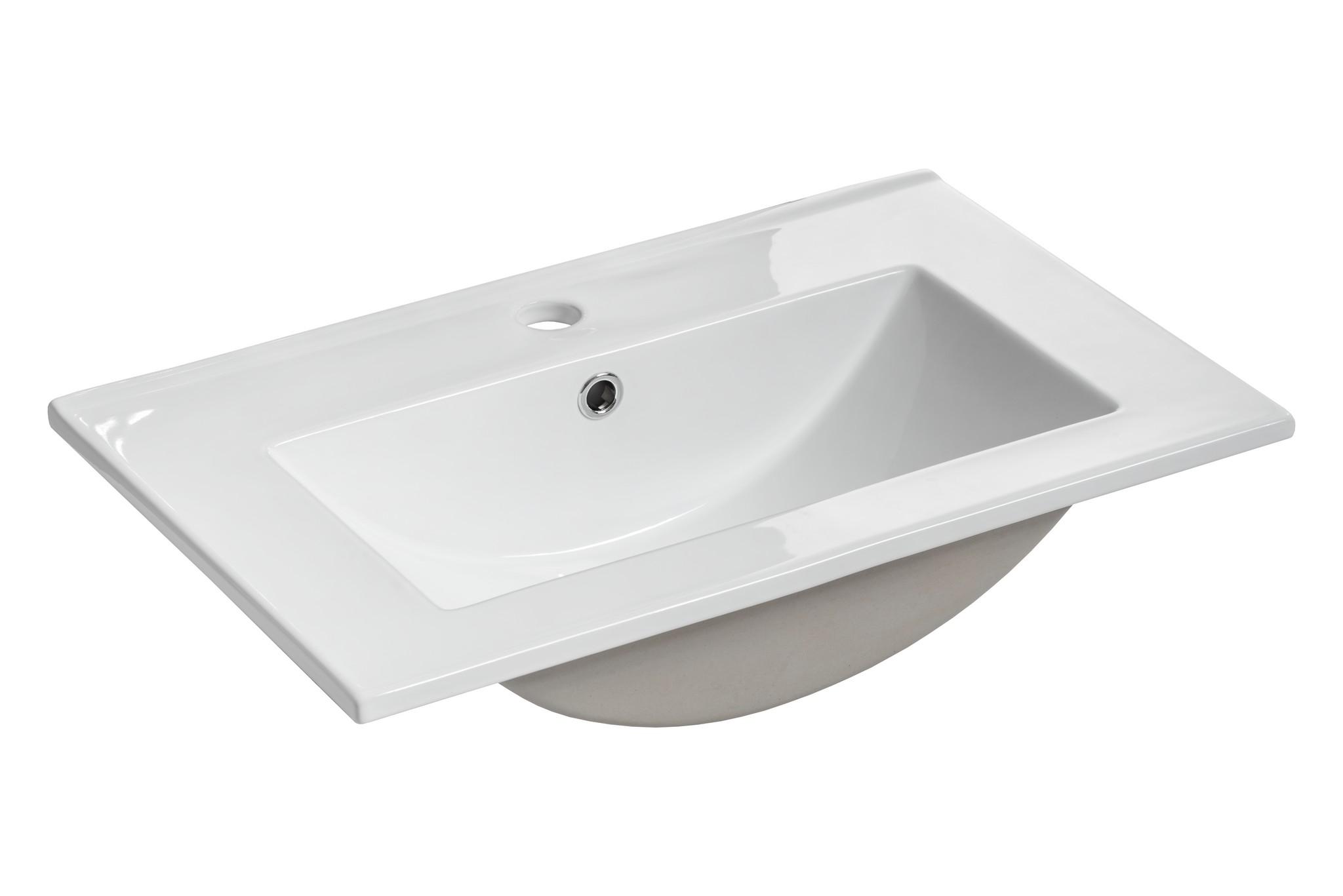 ArtCom Kúpeľňová zostava TWIST / BIELA Twist: keramické umývadlo 60 cm UM-2060RB: 61 x 18 x 40 cm