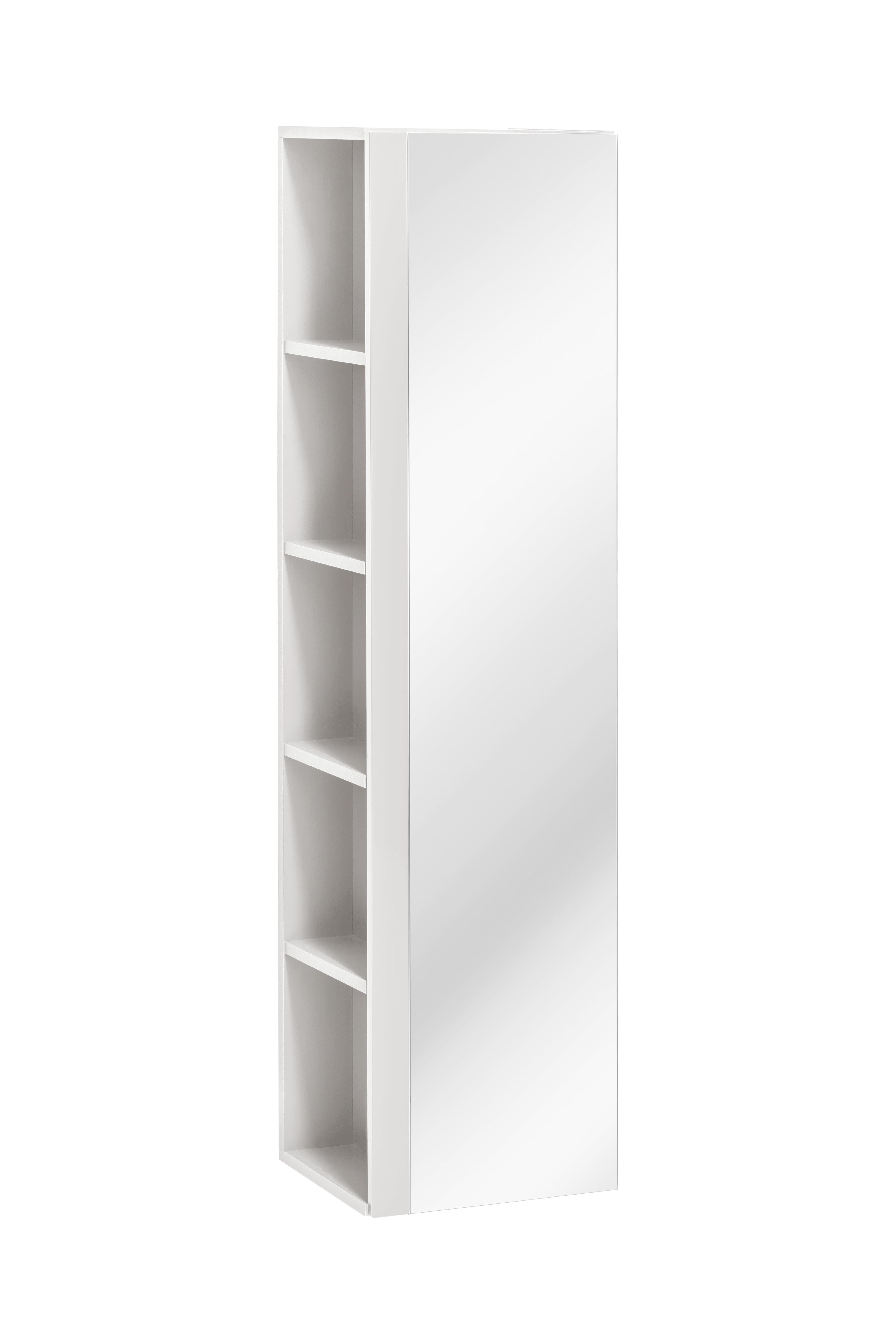 ArtCom Kúpeľňová zostava TWIST / BIELA Twist: skrinka vysoká Twist 802: 35 x 140 x 30 cm