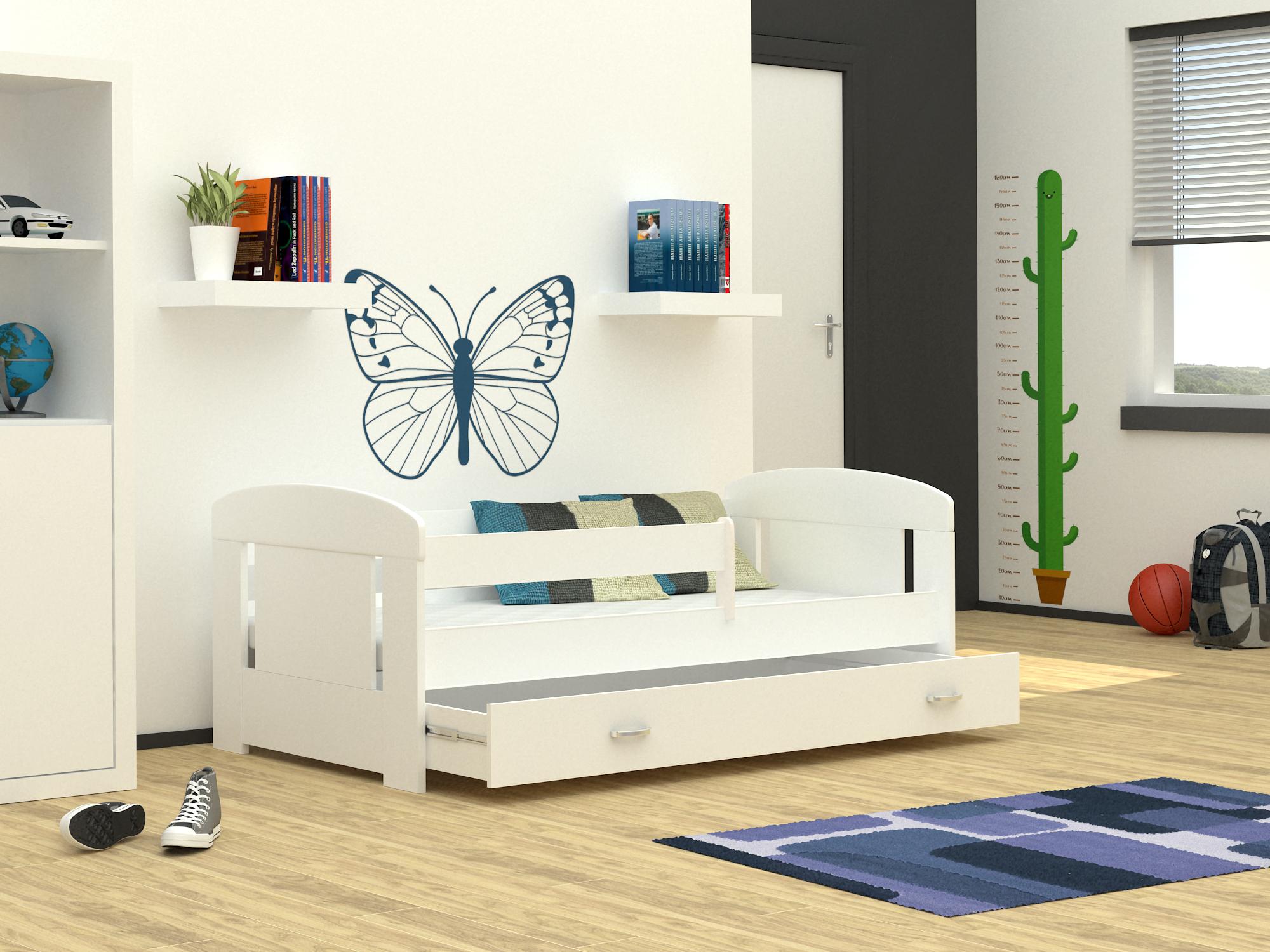 ArtAJ Detská posteľ FILIP COLOR / 180 x 80 cm Farba: Biela / biela