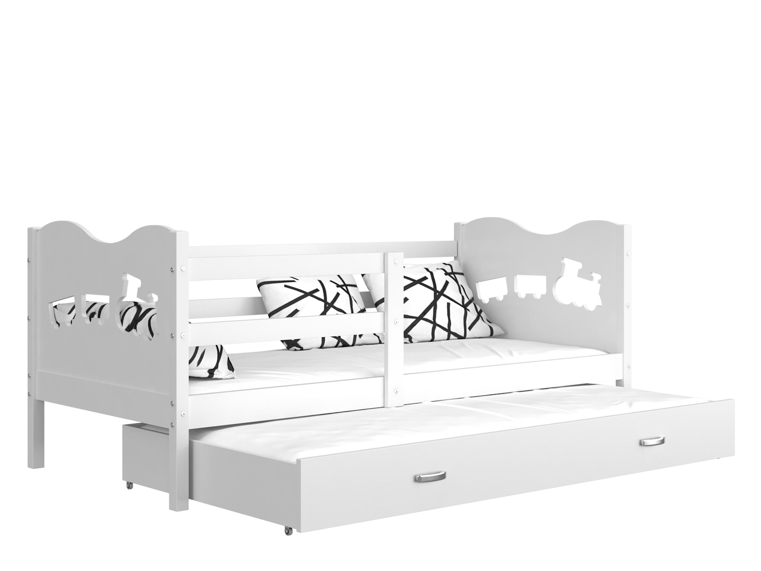 ArtAJ Detská posteľ MAX P2 / MDF 200 x 90 cm Farba: Biela / biela 200 x 90 cm, s matracom