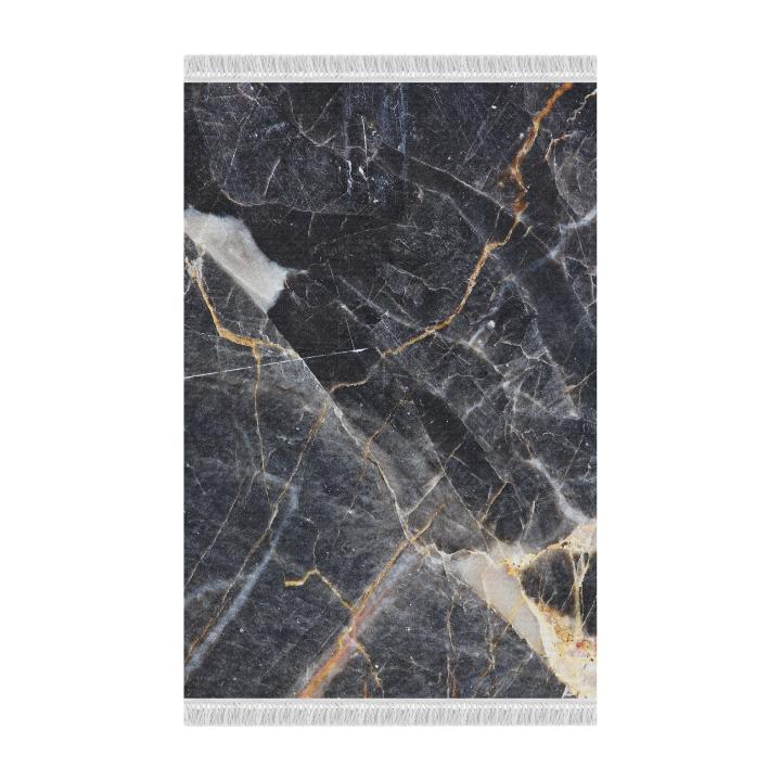 Tempo Kondela Koberec, vzor čierny mramor, 80x200, RENOX TYP 1