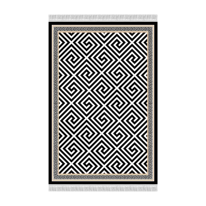 Tempo Kondela Koberec, čierno-biely vzor, 80x150, MOTIVE
