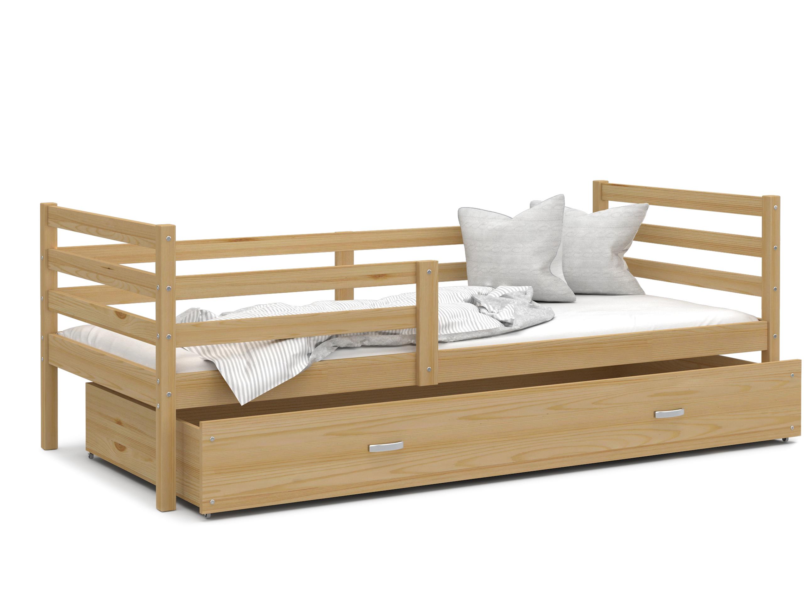 ArtAJ Detská posteľ JACEK P   190 x 80 cm Farba: Borovica, Prevedenie: bez matraca, Rozmer, materiál: drevo
