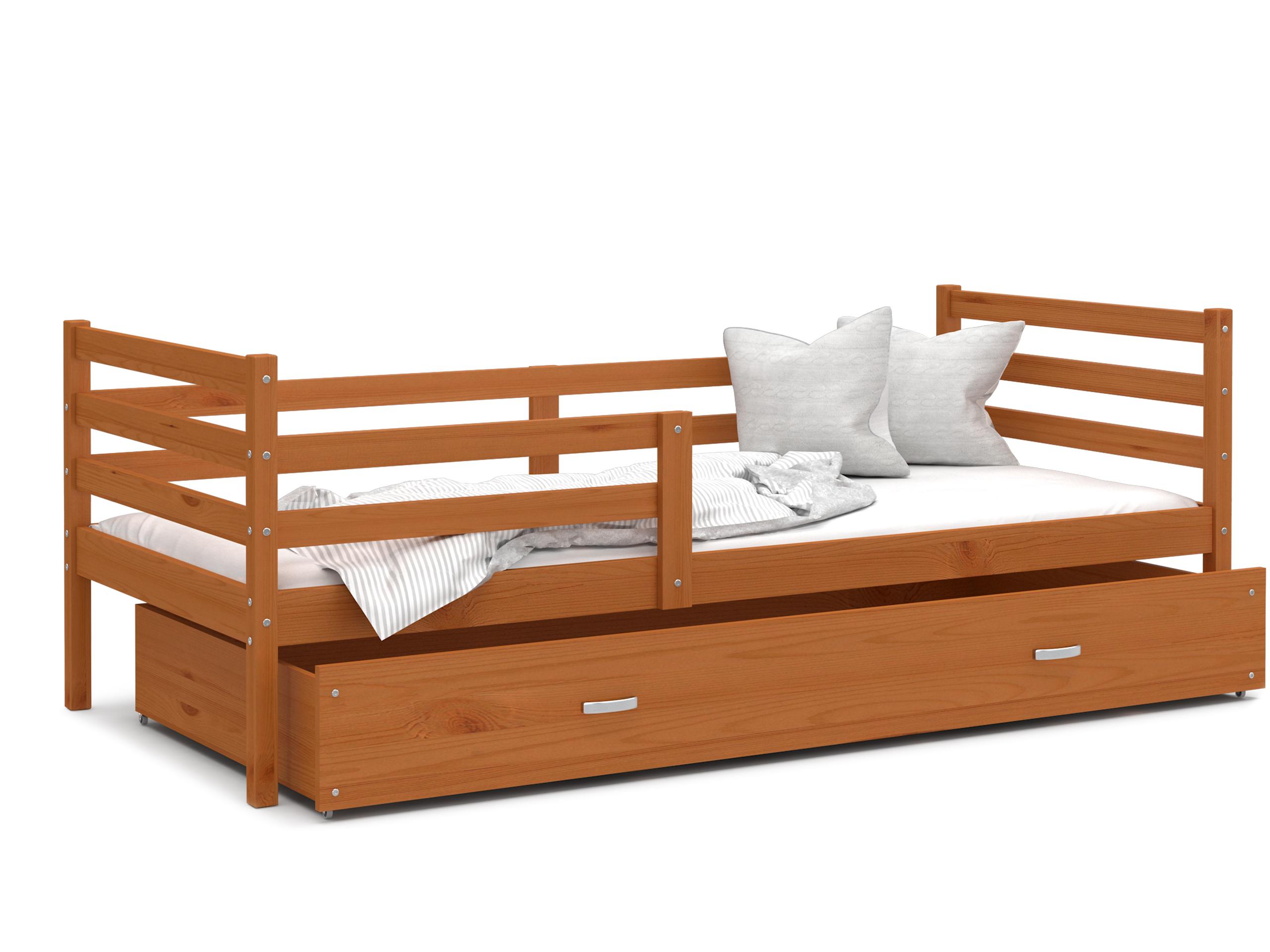 ArtAJ Detská posteľ JACEK P   190 x 80 cm Farba: Jelša, Prevedenie: bez matraca, Rozmer, materiál: drevo