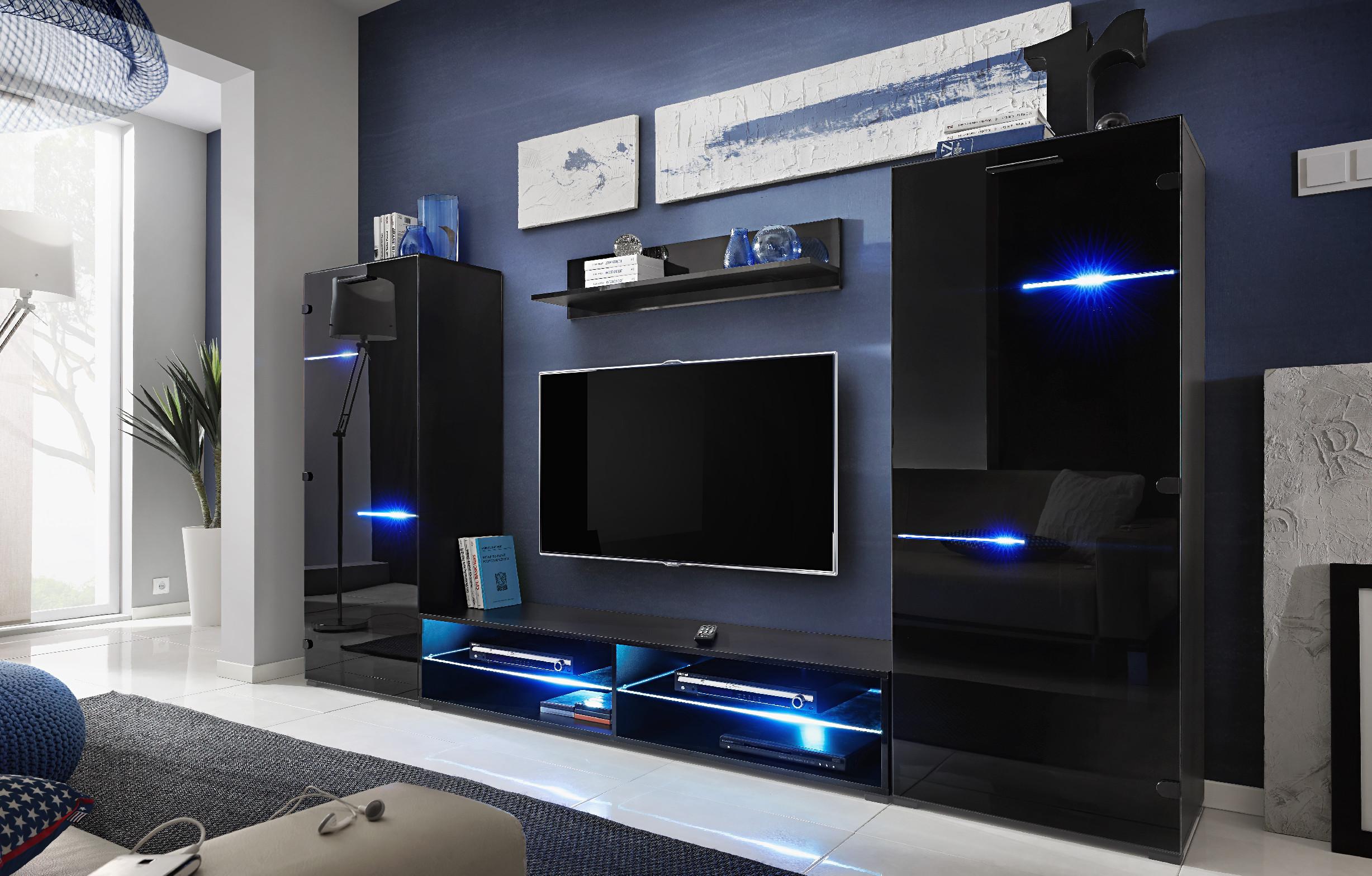 Furnival Obývacia stena Modern Farba: Čierna