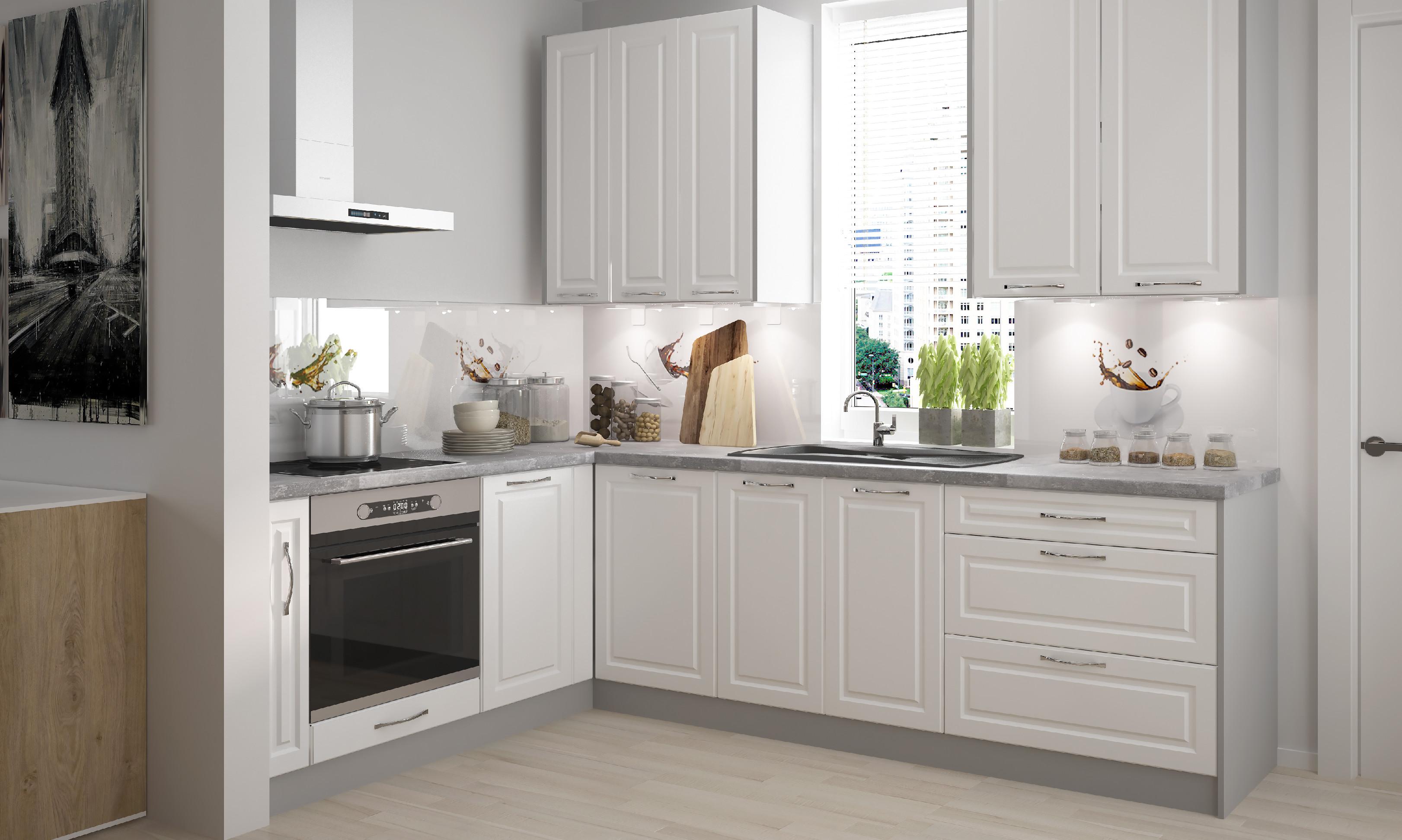 ArtExt Double system BS 30/72 ku kuchynským linkám Farba korpusu: biela