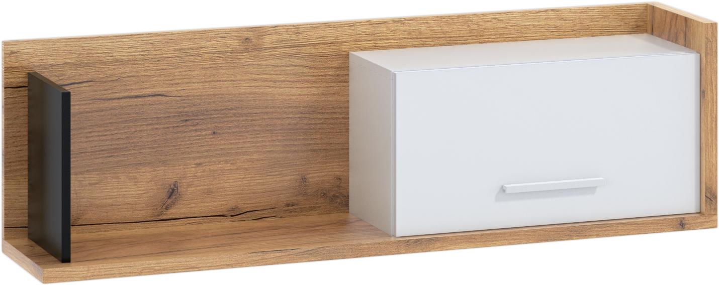 WIP Polica so skrinkou 1D BOX-11 Farba: craft zlatý / biela / čierna