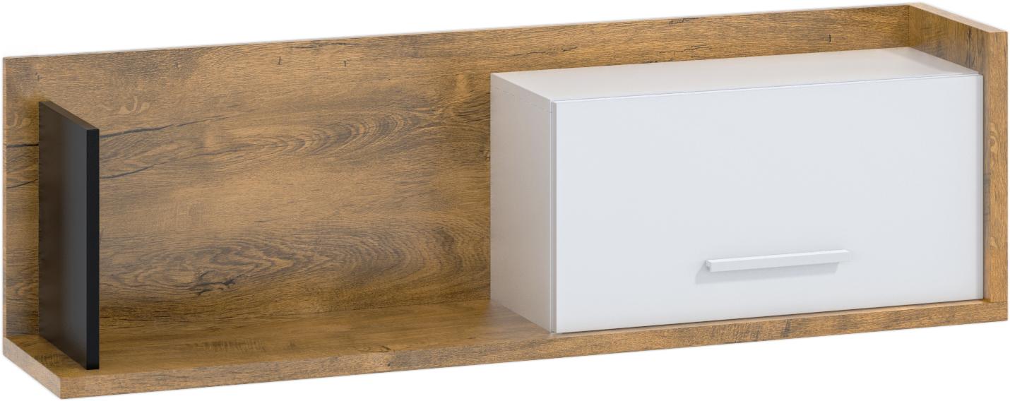 WIP Polica so skrinkou 1D BOX-11 Farba: dub burgun / biela / čierna